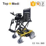 강화된 드는 시트를 가진 불리한 강철 전자 휠체어