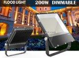 5 лет гарантии 110lm/W для использования вне помещений умирает литой алюминиевый корпус прожектора 150W