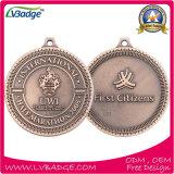 記念品のギフトのカスタム青銅色のスポーツ賞の金属メダル