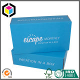 Caja de embalaje plegable del papel acanalado de la impresión de color del estilo