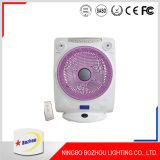 14 polegadas AC e DC do ventilador recarregável com Controlador Remoto