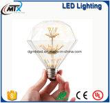 MTX van de de gloeidraad van de lichte amber retro besparing van de de Gouden G125 4W bolliefde HOOFD van Edison de lamp uitstekende LEIDENE van de het decorbol gloeidraadbol de lamp van LEDvintage