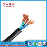 Le PVC de H05VV-F a isolé le câble engainé, type fil flexible de Rvv de câble