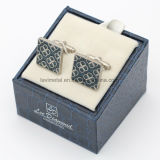 Atacado Custom Beautiful Flower Design Moda Men's Metal Cufflinks