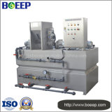 Dispositivo automático de dosagem de polímero para pó e líquido floculantes