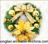 Venda a quente colorida decoração Férias Coroa de Natal Artificiais