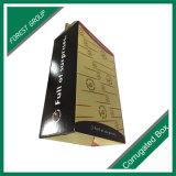 Tres capas del rectángulo impreso de papel con la maneta