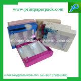 Caja de embalaje cosmética del juego con la ventana del PVC