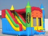 Crayon Castillo Saltar, inflable Combo (B3058)
