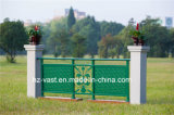 Barandilla de acero galvanizada decorativa de alta calidad 3 del balcón de la aleación de Haohan Alluminum
