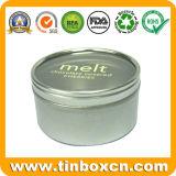 Caja de Lata Redonda con los alimentos Grado, lata de metal