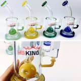 Hbking Stock Products Flared Straight Tube Tubos de água de vidro Oil Rigs Water Pipes Glass Smoking Pipes