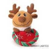 クリスマス犬の製品はロープ動物ペットプラシ天のおもちゃを群がらせた