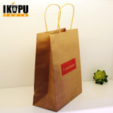 Fashion Flat Handle Design Printed Kraft Paper Bag Wholesale