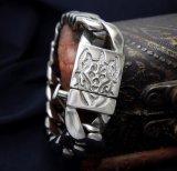 رجال أساور [تيتنيوم] فولاذ سوار فضة لون [بونك روك] أسلوب