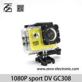 防水完全なHD 1080PのスポーツDV Gc0308の処置のカメラ2のインチLCDスクリーン30m