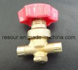 Válvula da mão, válvula de batente, válvula cortada, peças do Refrigeration