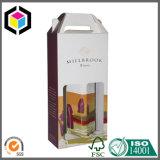 Contenitore impaccante di documento ondulato del regalo del vino della bottiglia della maniglia due