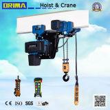 europäische elektrische Kettenhebevorrichtung der niedrigen Durchfahrtshöhe-250kg mit Einschienenbahn-Laufkatze