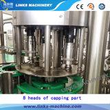 Completar un agua mineral a la Z de la planta de llenado de botellas de plástico