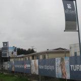 Kundenspezifischer Ineinander greifen-Barrikade-Deckel-Fahnen-haltbarer Wind durch Ineinander greifen-Fahnen