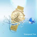 男性用スポーツの腕時計のステンレス鋼の網バンドWatch72505