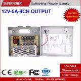 12V 5A 4CHの出力CCTVのカメラの切換えの電源