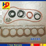 Jogo da gaxeta da revisão de motor das peças de motor 6D105 do diesel da qualidade superior