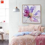 De waterverf bloeit Decoratief Olieverfschilderij met Frame