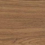 Étage résidentiel de PVC de planche de vinyle de configuration en bois jaune