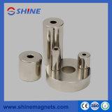 N38 de de Permanente Ring van de Zeldzame aarde/Magneet van de Cilinder met Vernikkeld