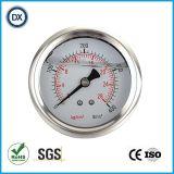 004ステンレス鋼が付いている液体のオイルの満たされた圧力計の圧力計