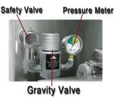 Pfe-600 frigideira elétrica industrial, frigideira da filhós do gás, frigideira da pressão da parte superior de tabela