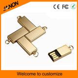 Palillo del USB del mecanismo impulsor del flash del USB del oro mini