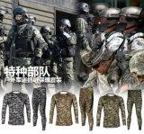 عسكريّة تكتيكيّة صوف ملابس بدلة تمويه محدّد مشدودة [مولتيكمو] خارجيّ يخيّم مرنة [ورم-كيبينغ] [أنتي-بكتريا] داخليّة لهاث وأقمصة