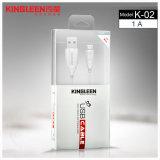 Câble de caractéristiques K-02 micro modèle de Kingleen 1.2m pour Samsung/HTC