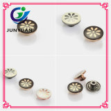 Wholesale Flower Logo Metal Uniform Alloy Button