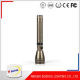 Antorcha de la linterna LED recargable de alta potencia del precio de fábrica de oro