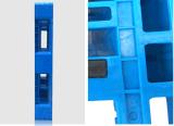 倉庫の製品の記憶のための6つの鋼鉄管が付いているプラスチック皿1300*1100*150mmのHDPEプラスチックパレット1.5tラックロード頑丈なプラスチックパレット
