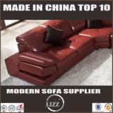 Un style moderne forme en U canapé d'angle avec cuir véritable (LZ-129)