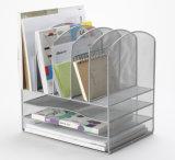 책상 조직자 부속품 금속 메시 문구용품 조직자 사무실 책상 부속품