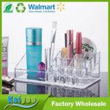 Claro cosmético plástico del organizador del almacenaje y del maquillaje de la calidad