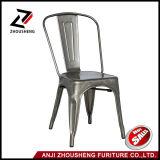 Patio del marco de la lámina metálica que cena la silla del metal adentro galvanizada con Zs-T-01 posterior