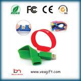 Braccialetto dell'azionamento dell'istantaneo del USB del PVC di abitudine del regalo di natale