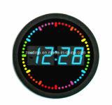 다채로운 도는 LED 두번째 표시기 - 원형을%s 가진 LED 벽시계