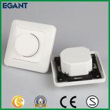 Interruptor ligero de tacto del amortiguador blanco de cristal del panel