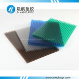 Hoja cristalina helada plástico 100% del material para techos del policarbonato de Bayer
