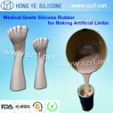 Borracha de silicone de platina para fazer uma tatuagem de partes do corpo protético/Exposição