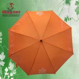 Golf droit de fibre de verre annonçant le parapluie