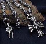 30 pedazos de los granos del acero Titanium del collar con el colgante cruzado